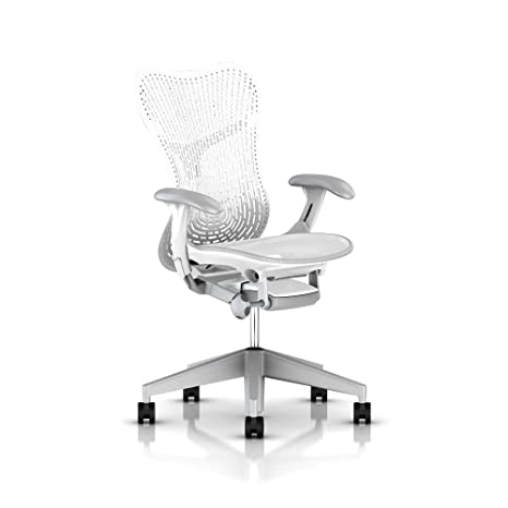 Miraculous Herman Miller Mirra 2 Chair One Size Fog With Studio White Frame Mrf12 Ocoug Best Dining Table And Chair Ideas Images Ocougorg