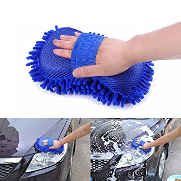 Car Care Car Wash Cleaning Glove Double Car Brush Wool Glove Car Clean for Motorcycle Car Polish Washer Sponge Car Washing Brush