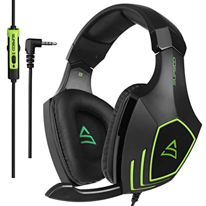 SUPSOO G820 Stereo Gaming Headset 3 5mm Wired Over-ear Headphone with Mic  Volume Control for PC Xbox one PS4 Laptop