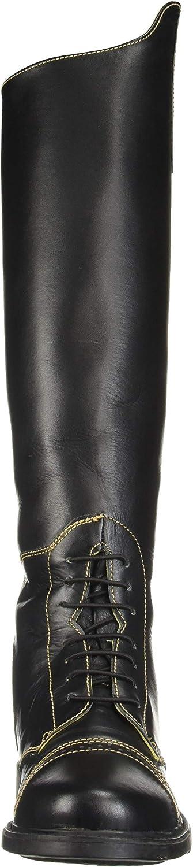 TuffRider Womens Natasha Leather Field Boots 10 Regular Black//Light Tan