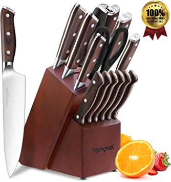 Compra homgeek Cuchillo de Cocina Profesionales, Juego Cuchillos ...