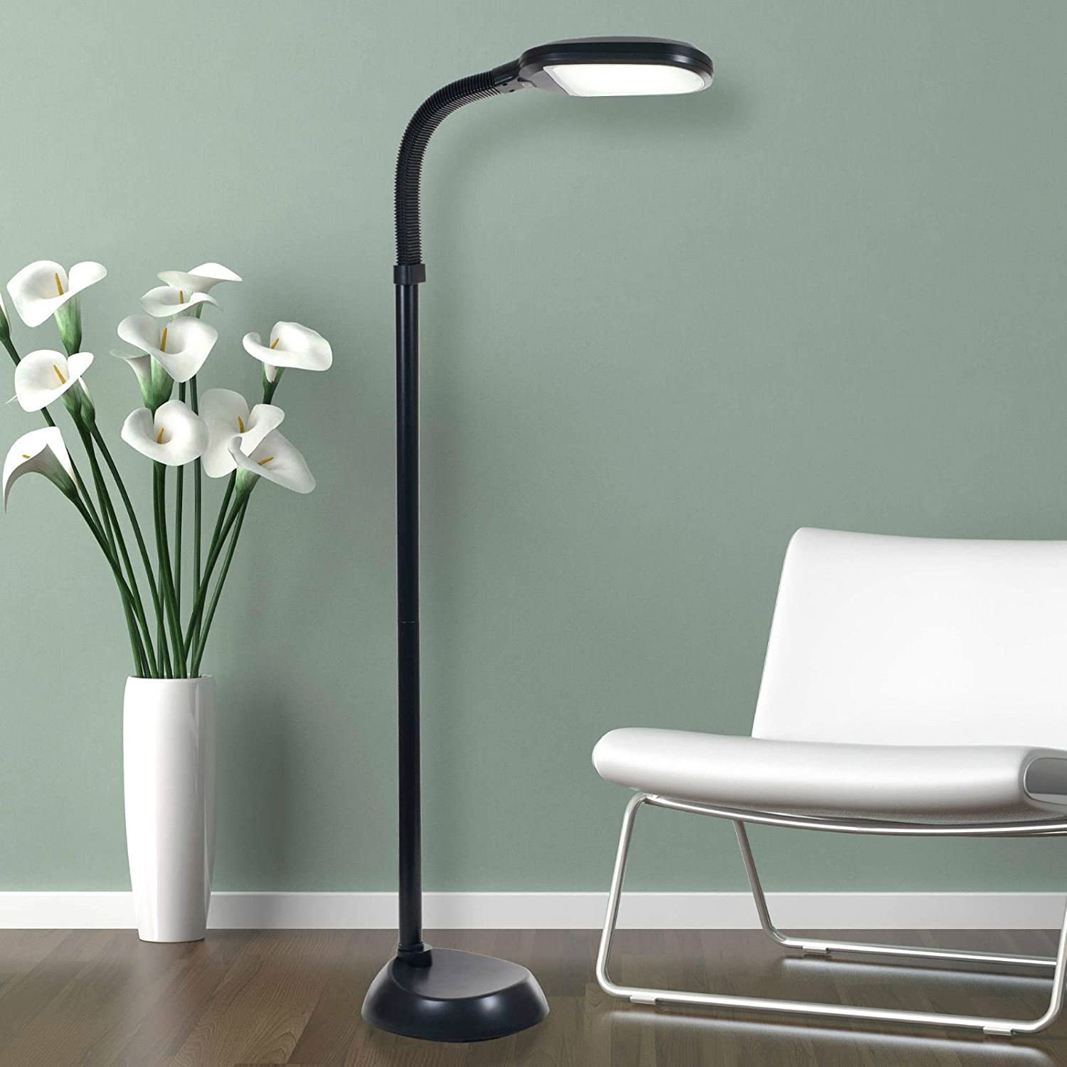 27W Energy Saving Daylight SAD Reading Hobby Craft Floor Standing Lamp Light New (Black) Rockline