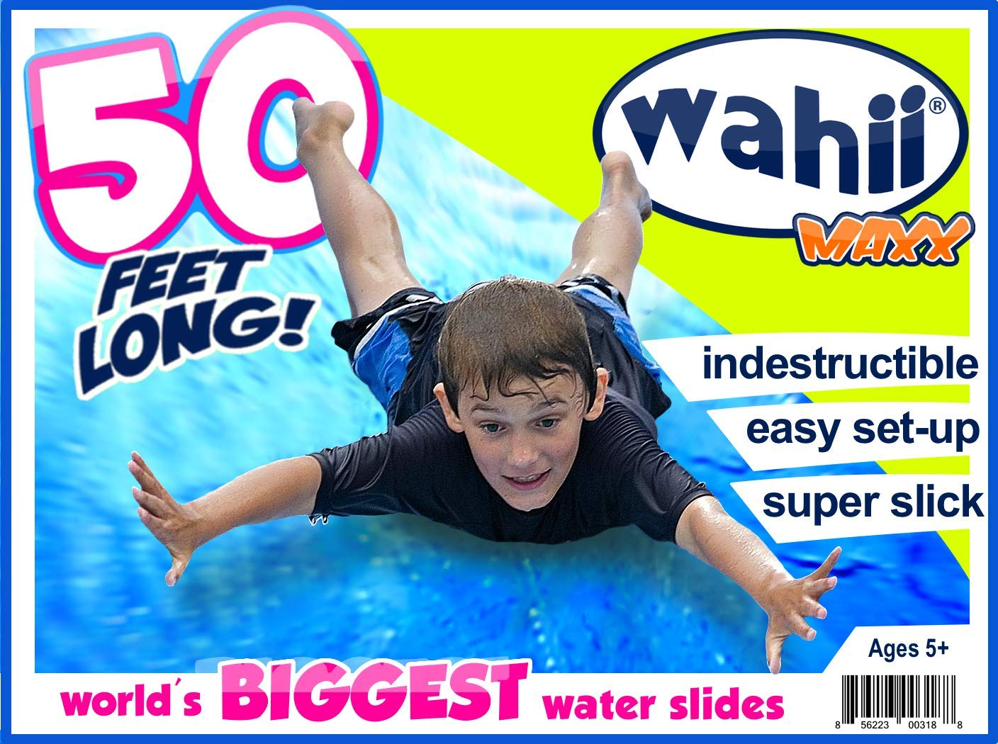 Wahii MAXX 50' x 5' - Super Slippery, 22oz Vinyl - Never Rip or Puncture by Wahii