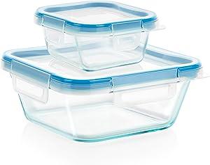 Snapware 4-Piece Total Solution Food Storage Set, Glass