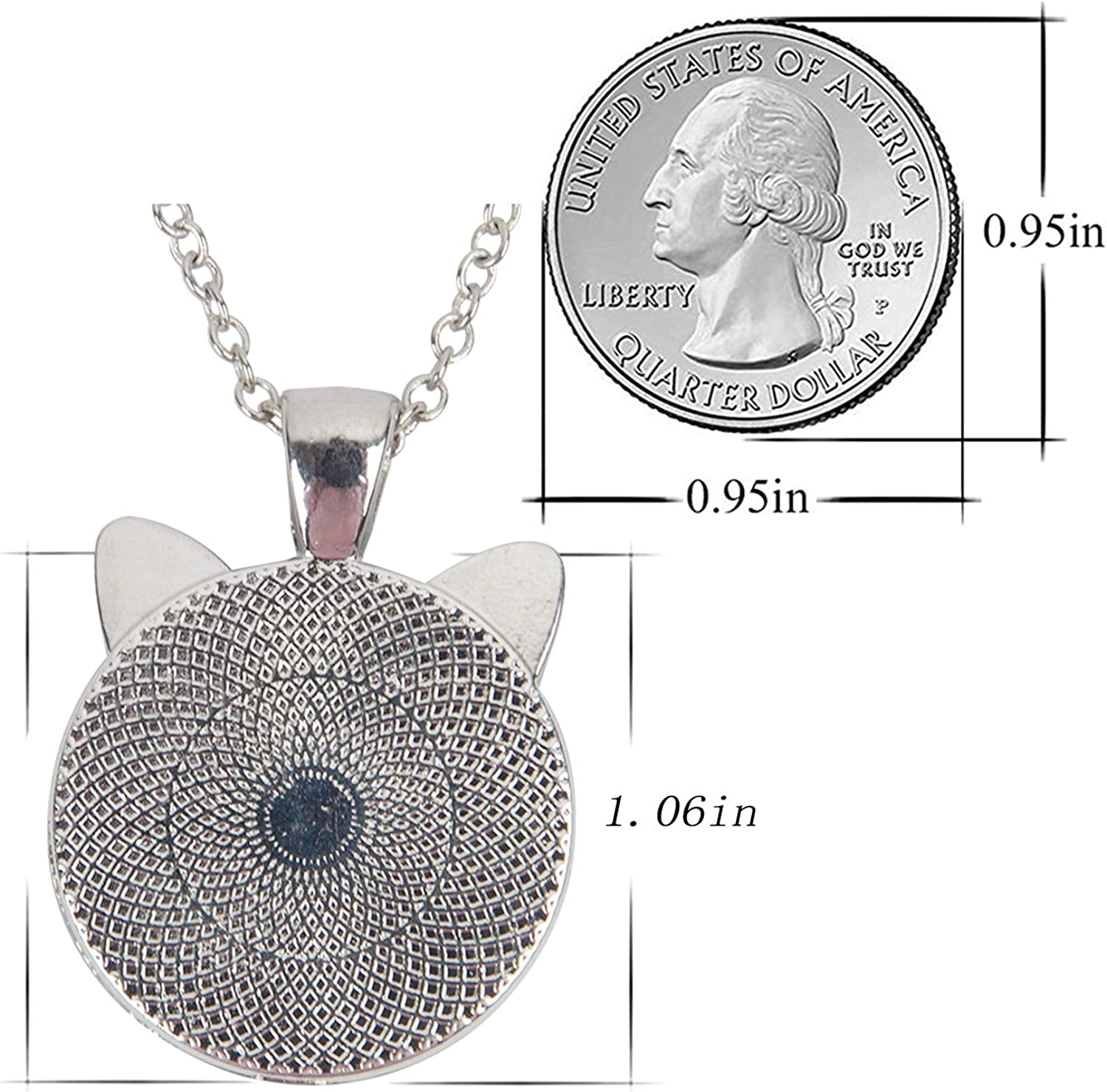 LooPoP Cat Pendant Necklace Jewelry for Women Kids Gifts Included Free Charm Chain Steampunk Owl