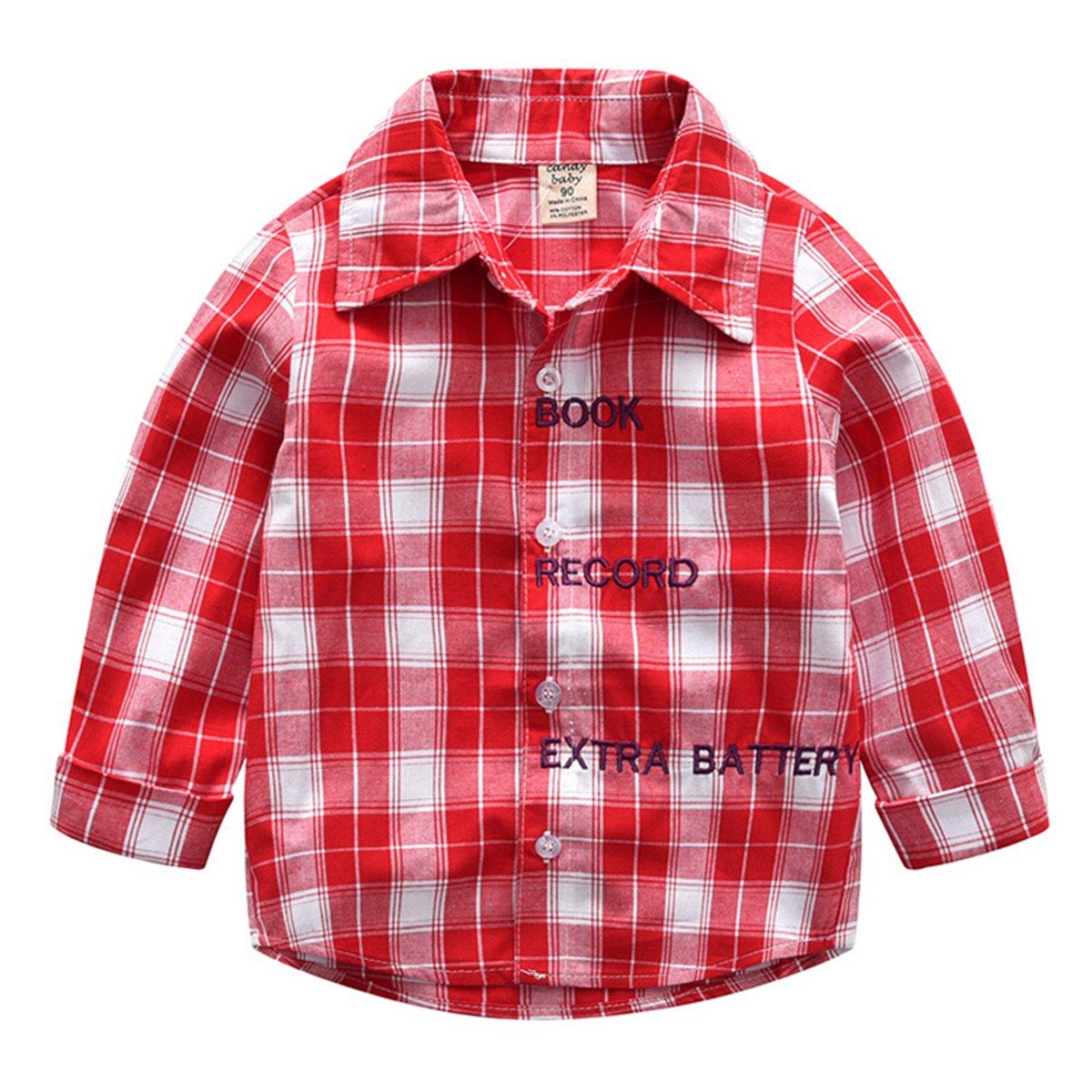 Jeans Pants Set Milkiwai 2Pcs Boy Outfit Long Sleeve Plaid Shirt