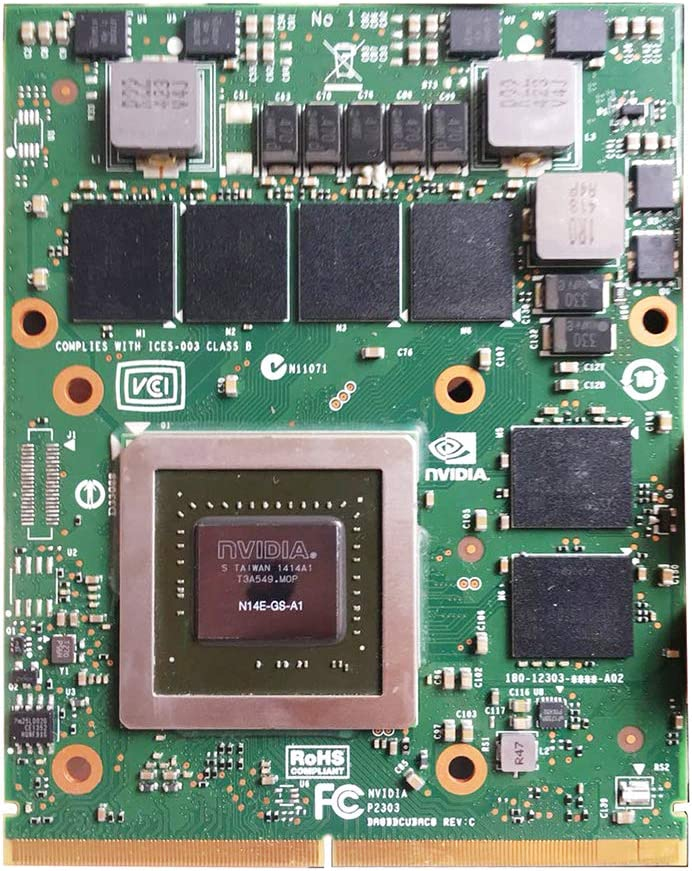 Genuine New 3GB Graphics Video Card GPU Upgrade Replacement for Alienware M17X R2 R4 R5 M18X R2 R3 MSI GT60 GT70 GT72 Gaming Laptop, nVidia Geforce GTX 770 770M GDDR5 3 GB, MXM VGA Board Repair Parts