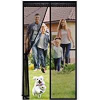 Magnetische Screen Deur, Anti Muggengaas Vlieggordijn met Full Frame Haak & Loop Eenvoudig te installeren Glasvezel Mesh…