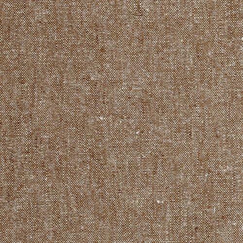Robert Kaufman Kaufman Essex Yarn Dyed Linen Blend Nutmeg Fabric by The Yard, Multicolor