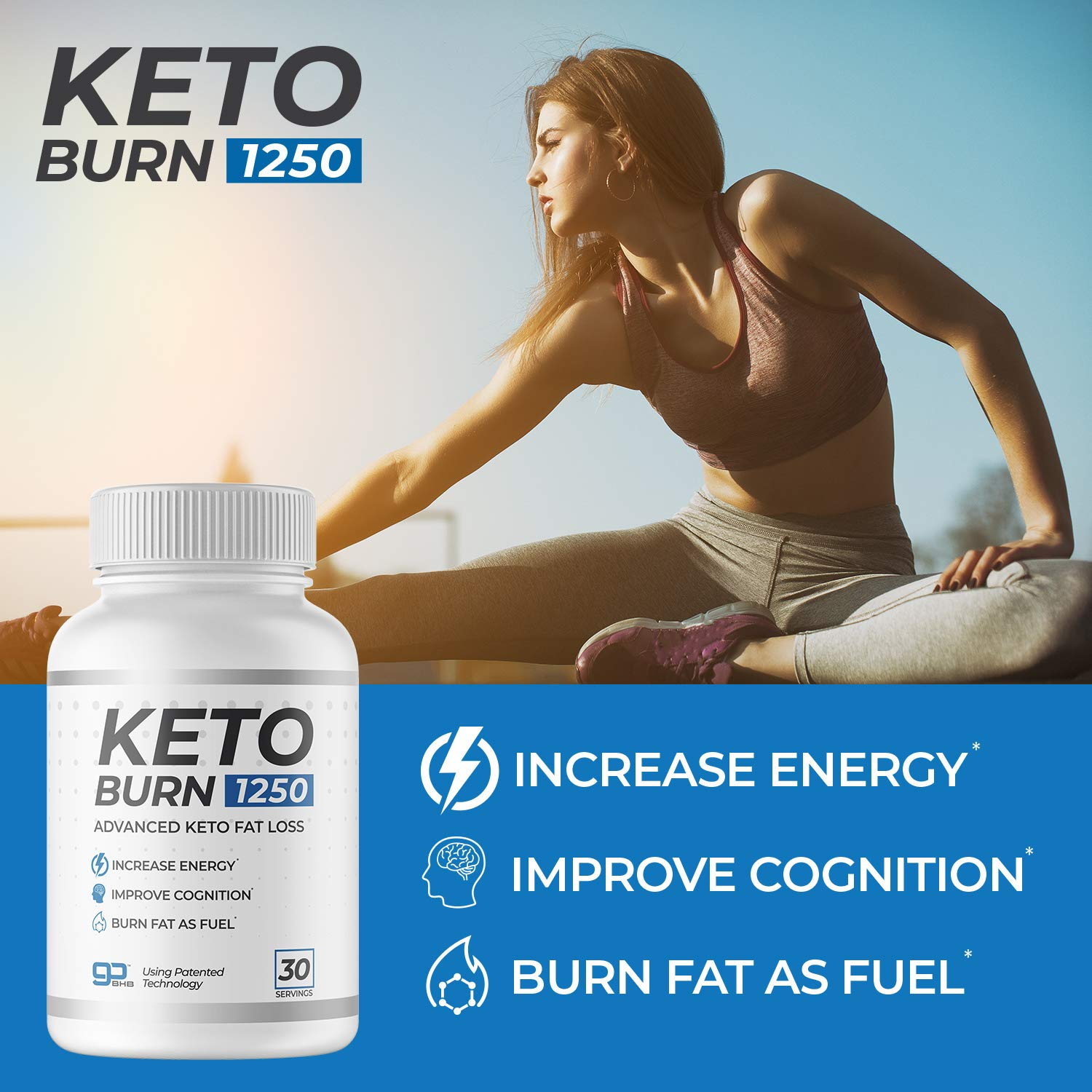 3 Bottles of KetoBurn 1250 (180 Capsules) - The ONLY Keto Pill That Uses Patented Fat Loss Technology! by KetoBurn 1250 (Image #3)