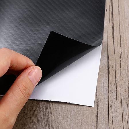 Noir VORCOOL Autocollant de Fibre de Carbone de Voiture Haute Lumi/ère 5D 6D Effet de Carbone Film Roll Sticker Autocollant de Vinyle de Voiture 60x152CM