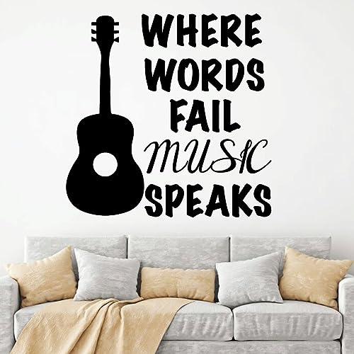 Music speaks where words fail sticker vinyl transfer wall sticker