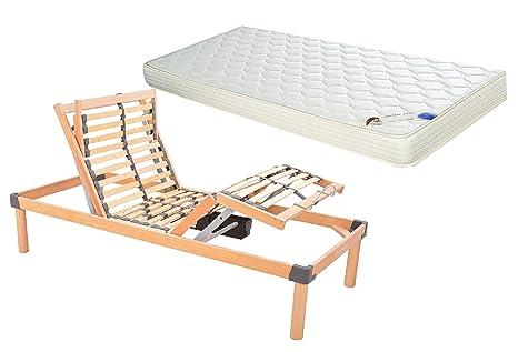 Reti Da Letto Elettriche : Rete a doghe motorizzata elettrica da letto singola con