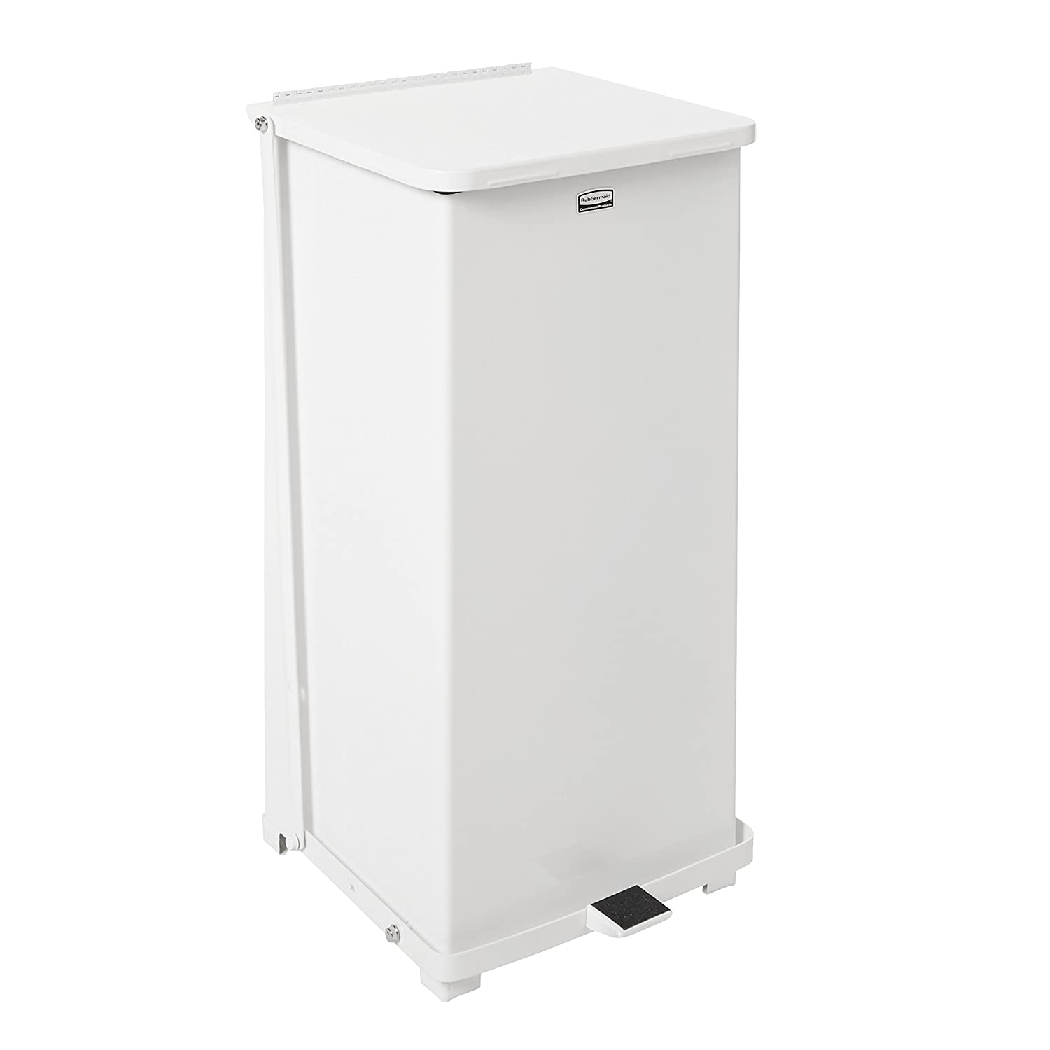 rubbermaid mercial defenders step on trash can 24 gallon