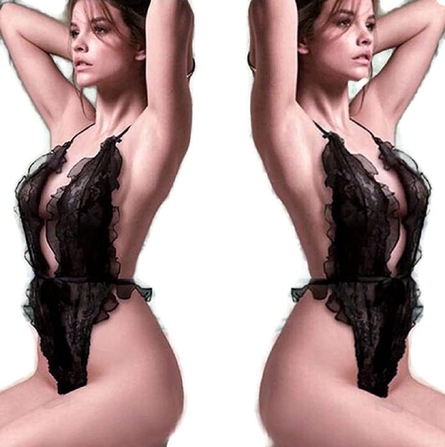 NEW Sexy Lingerie Hot Women Black Dress Transparent Erotic Lenceria Sex Costumes