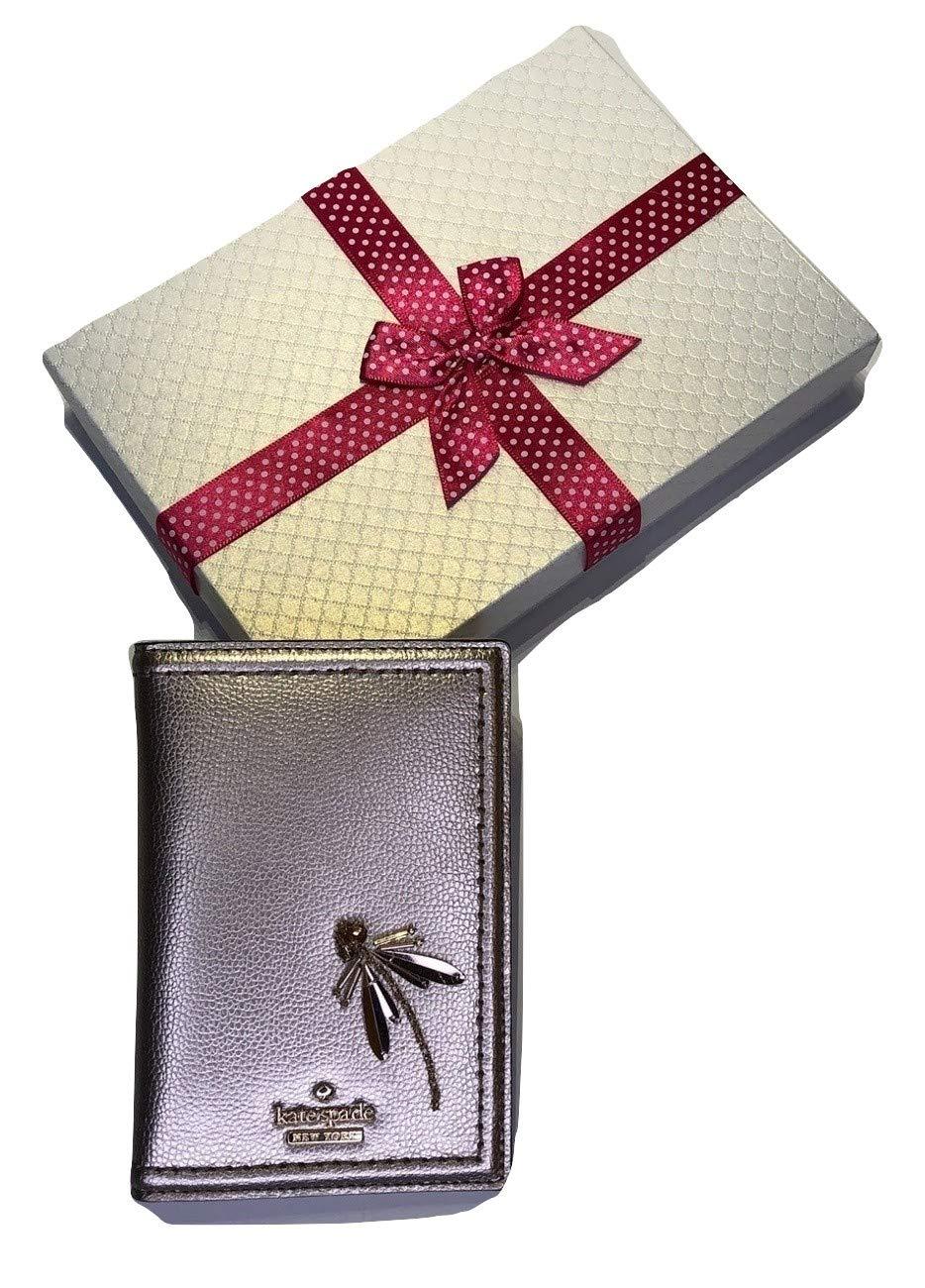 Kate Spade New York Imogene Passport Case Holder (Patterson Drive Dragonfly WLRU5247 Gold)