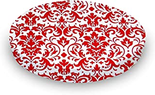 product image for SheetWorld Round Crib Sheets - Red Damask - Made In USA
