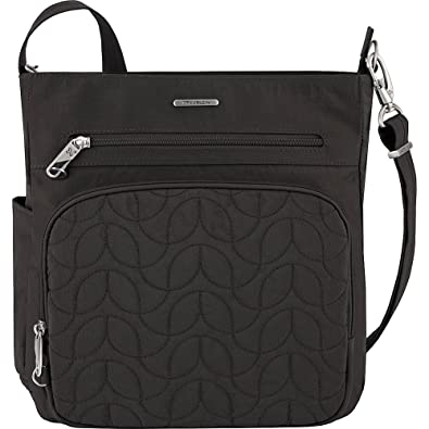 2154513fbacc Travelon Anti-Theft Quilted North South Bag - Medium Nylon Crossbody for  Travel   Everyday