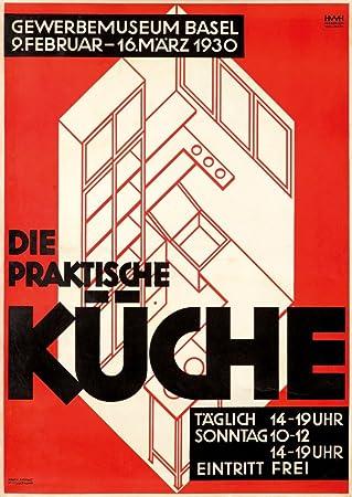 Amazon.Com: Die Praktische Kuche Vintage Poster (Artist: Haasbauer