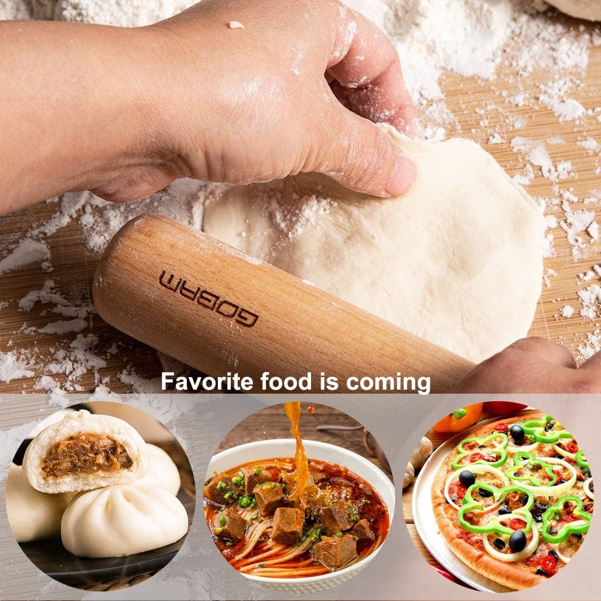 Gobam Rouleau /à p/âtisserie en bois pour pizza cuisine Large Rolling Pin p/âtisserie