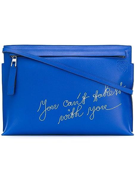 Loewe - Cartera de mano para mujer azul azul Marke Größe, color azul, talla Marke Größe UNI: Amazon.es: Ropa y accesorios