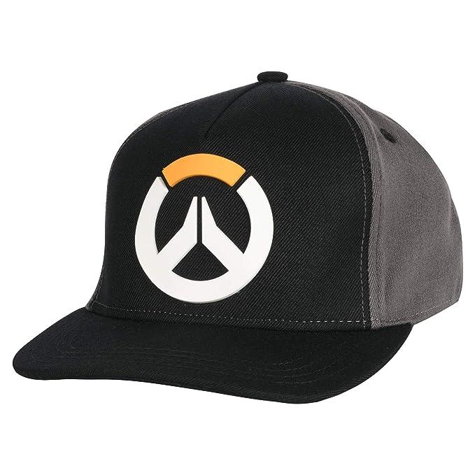 Amazon.com  JINX Overwatch Division Snapback Baseball Hat (Black ... 2ee4977bd491