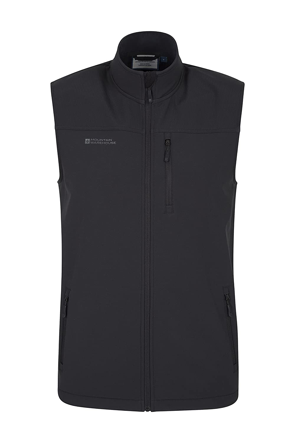 Mountain Warehouse Grasmere Mens Gilet - Lightweight Body Warmer, Water Resistant Outdoor Jacket, Breathable Running Vest Gilet, Pockets - for Winter Cycling & Hiking