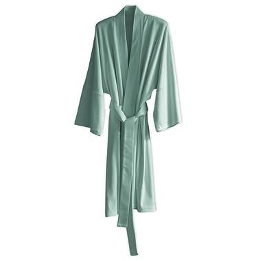 Under the Canopy Organic Cotton Kimono Robe, One Size, Mineral Blue