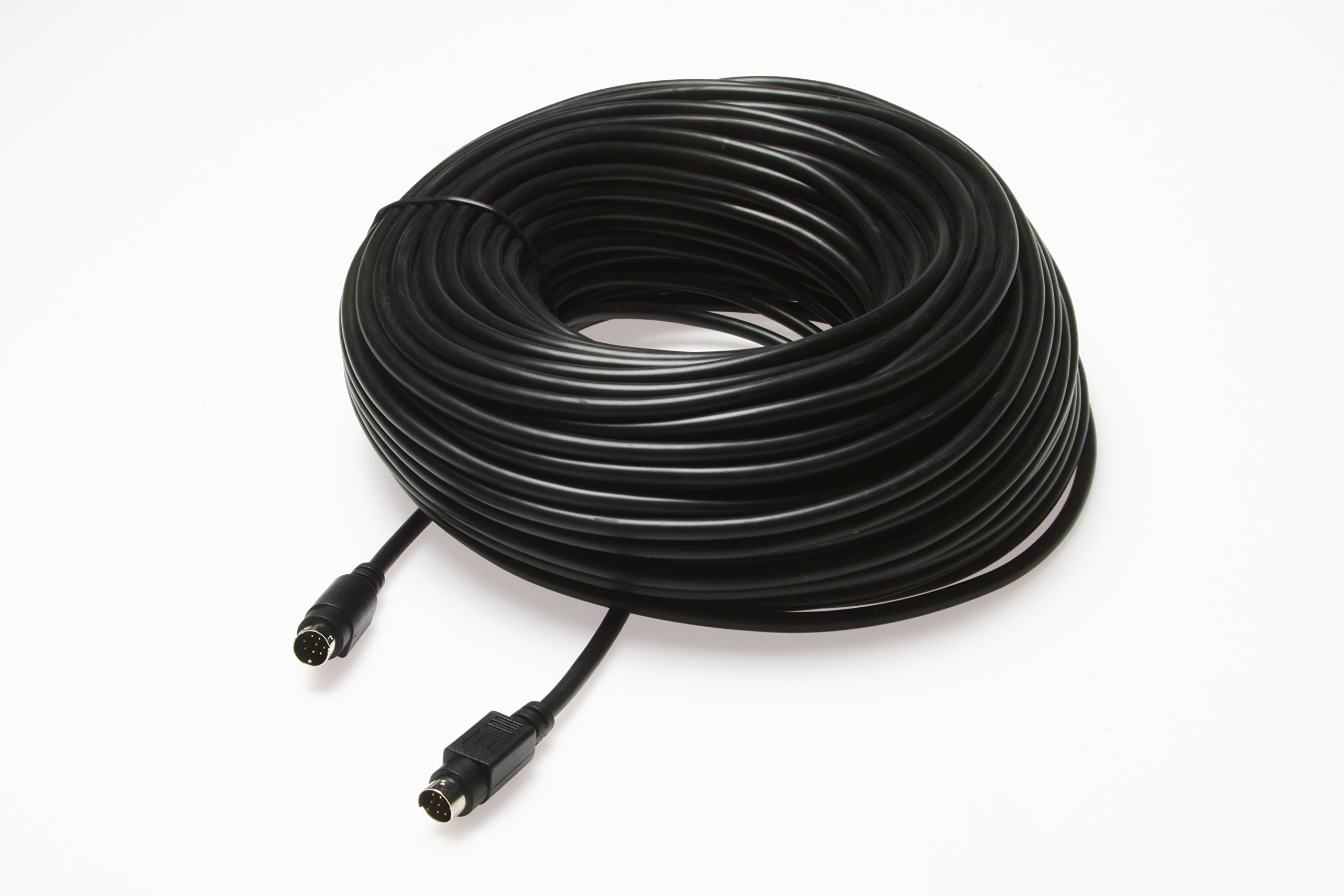 50ft VISCA PTZ Daisy Chain Camera Control Cable Sony EVI/BRC/SRG Series RS232 8 Pin Mini DIN to 8 Pin Mini DIN Serial by Wirenest