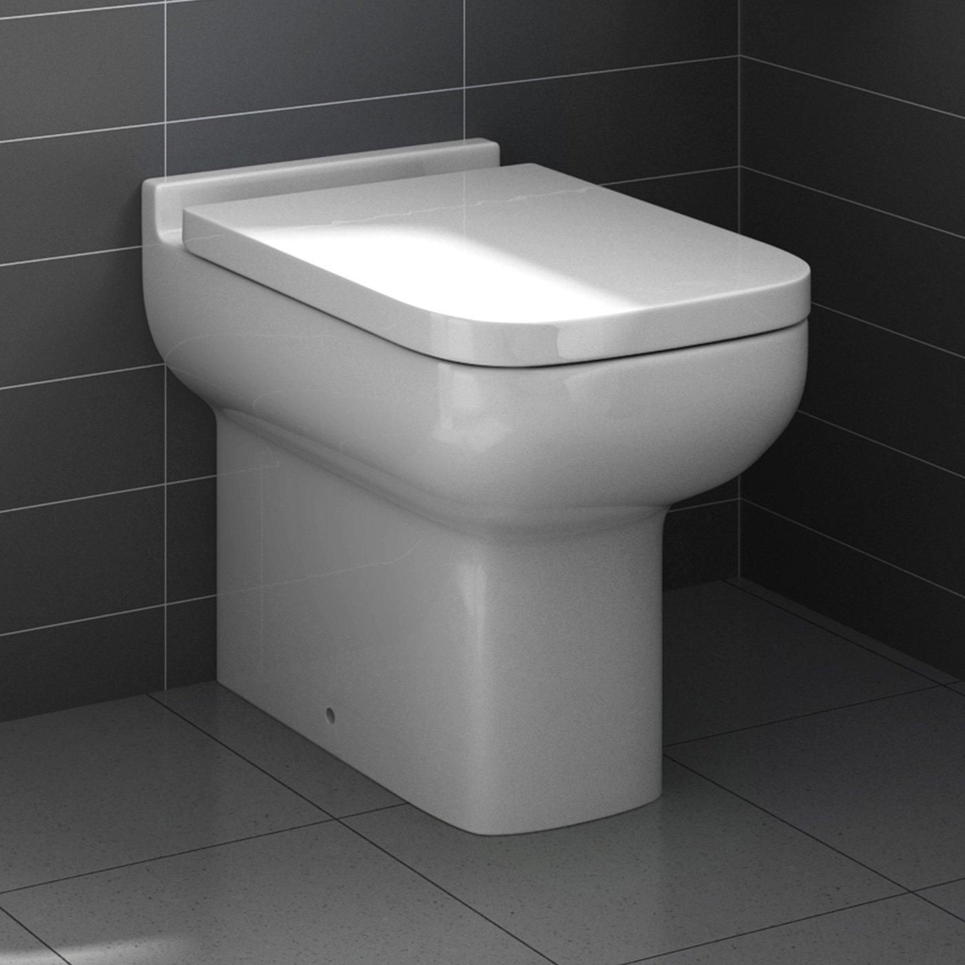Amazoncouk Toilets - White toilet with black seat