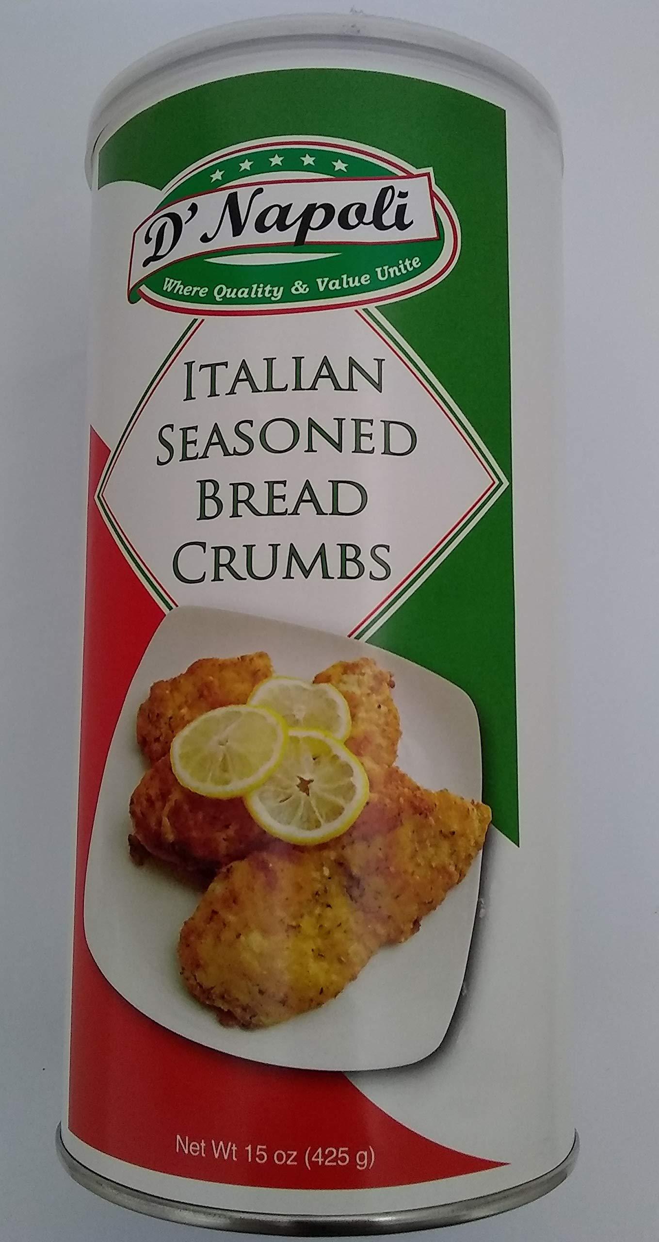 D' Napoli Italian Seasoned Bread Crumbs 15 oz