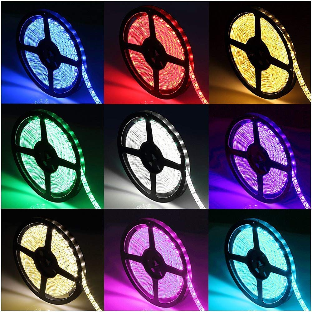 20m 100-240V Tiras de Luces 1200 LED 5050 SMD RGB Cortable//Regulable Con Control remoto para Boda Fiesta Discoteca Reuni/ón Cumplea/ños Halloween Navidad Hogar Jard/ín Entrada Habitaci/ón