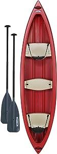 Lifetime Kodiak Canoe with 2 Paddles, Red, 13′
