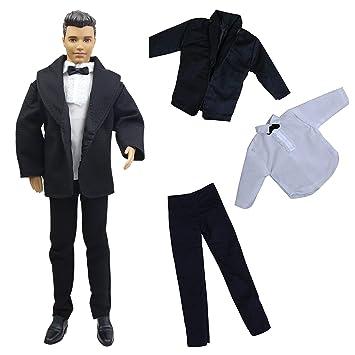 ZITA ELEMENT 3 Piezas Ken Barbie Ropa Conjuntos de Oficina para Barbie Novio Ken-para Fiesta y Oficina