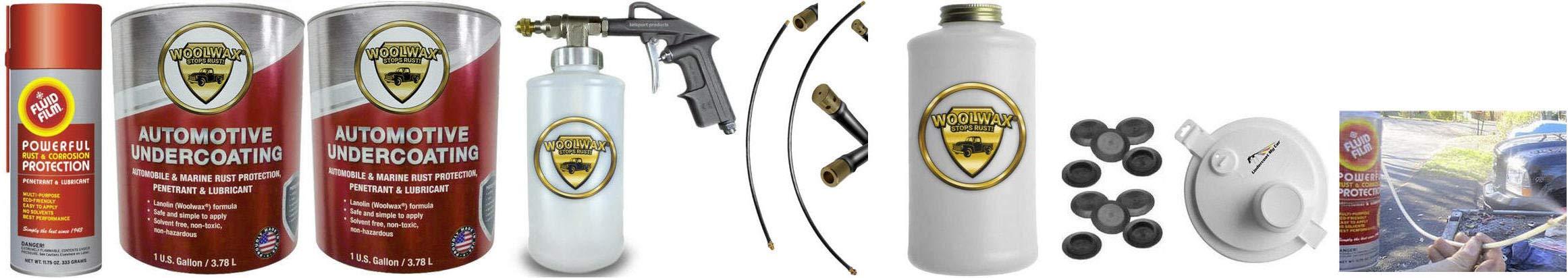 Fluid Film & Woolwax 2 Gallon Undercoating Kit Bundle w/PRO Gun. Black Color.