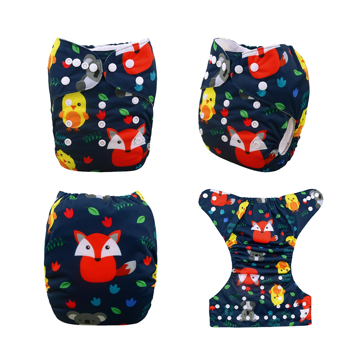 Adjustable Reusable Nappy 6pcs Diapers+6pcs Microfiber Inserts+4pcs Bamboo Inserts 6YDB06 Babygoal Cloth Diapers for Boys