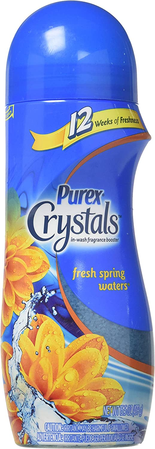 Purex Crystals In-Wash Fragrance Booster, Fresh Spring Waters, 15.5 Ounces (Pack of 2)