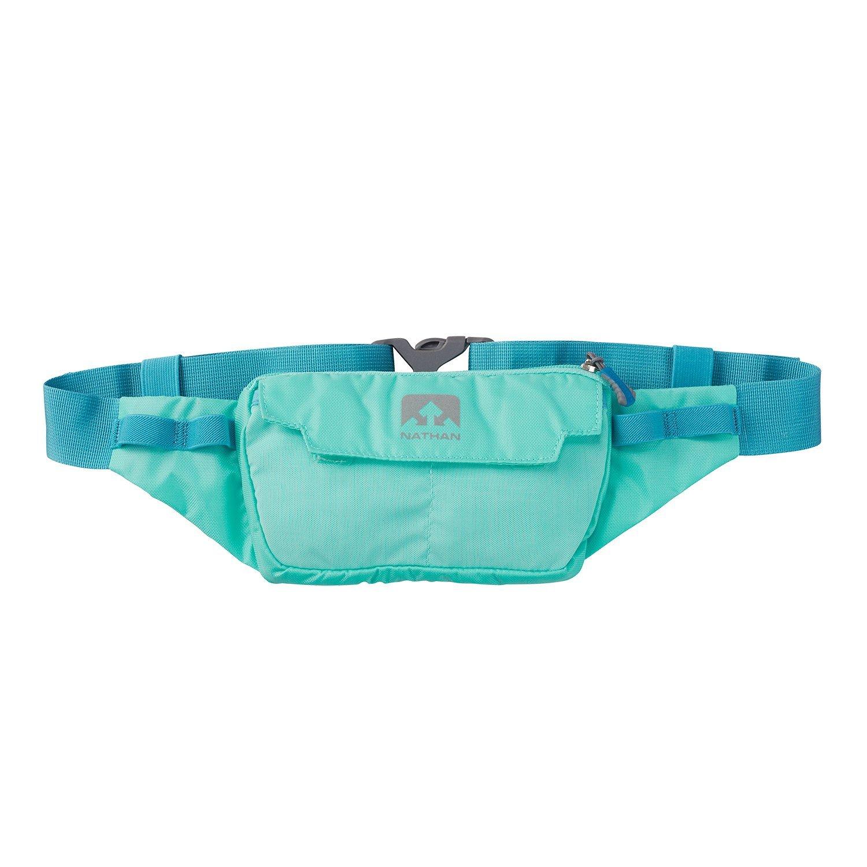 Nathan NS4912 Marathon Running Belt, Lightweight Training Pack with Stretch Pocket, Blue Radiance, One Size