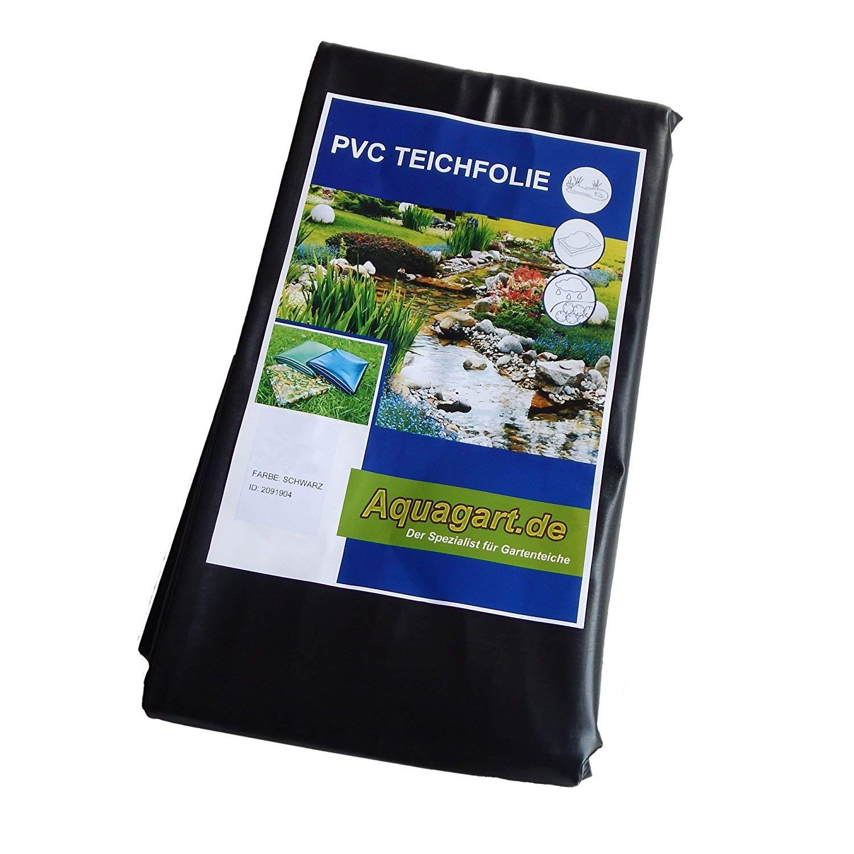 Film en PVC de qualité supérieure pour bassin de 0, 5 mm d'épaisseur 8 m x 5 m I poisson et plantes – Résistant aux UV et aux intempéries I – Bâche de bassin de jardin noir I Aquagart – Accessoires de jardin et de bassin
