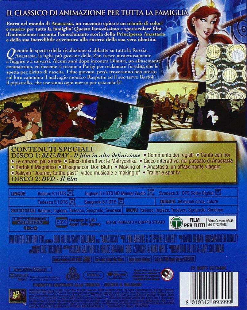 Anastasia [Italia] [Blu-ray]: Amazon.es: Don Bluth: Cine y Series TV