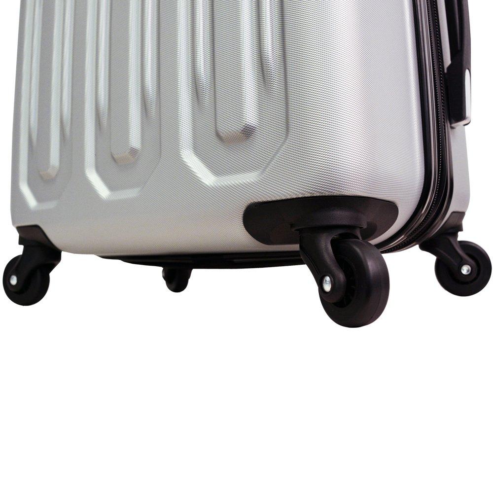 Mia Toro Italy Regale Composite Hardside Spinner Luggage 2pc Set Grey