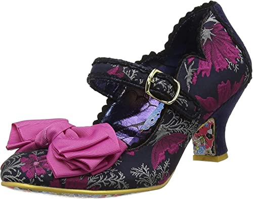 Irregular Choice Summer Breeze Red Floral Ladies Low Heel Mary Jane Buckle Shoe