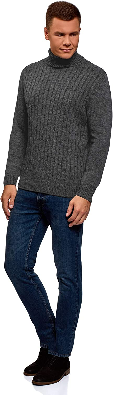 oodji Ultra Hombre Jersey Texturizado Trenzado