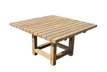 Teak Gartentisch Yazz 140x140 Teakholz Antik Massiv Tisch