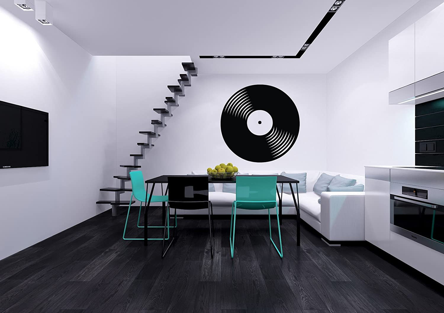 Vinyl Record Musical Decor Recording Music Studio Wall Vinyl Decal Art  Sticker Home Modern Stylish Interior Decor For Any Room Smooth And Flat  Surfaces ...