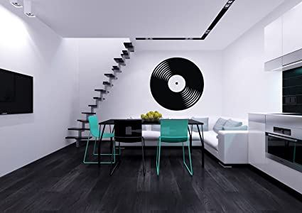Vinyl Record Musical Decor Recording Music Studio Wall Decal Art Sticker Home Modern Stylish Interior