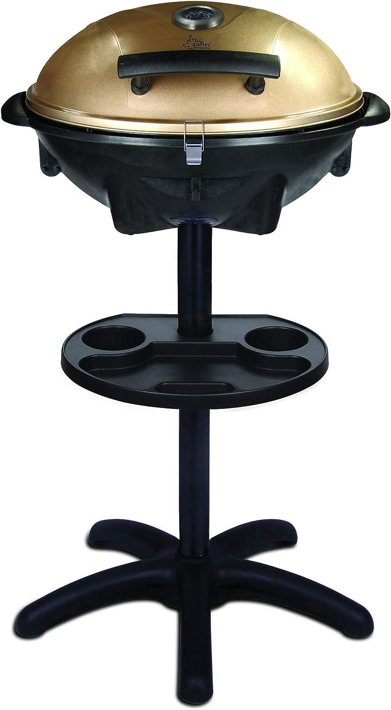 SUNTEC Barbacoa de pie/de mesa eléctrica BBQ-9479 [cubierta extraíble con indicador de temperatura, incl. compartimento para salsa, termostato regulable, máx. 2400 W]