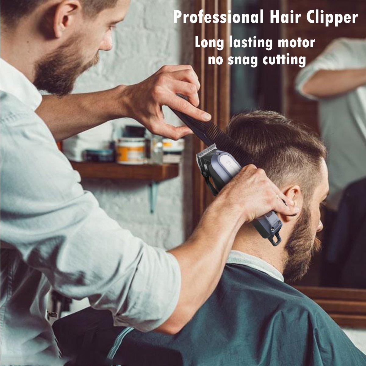Haarschneidemaschine Haarschneider Elektrischer Herren Profi Haartrimmer Set Netz und Akkubetrieb mit 4 Aufsätzen für Friseur Salon oder Privaten Gebrauch