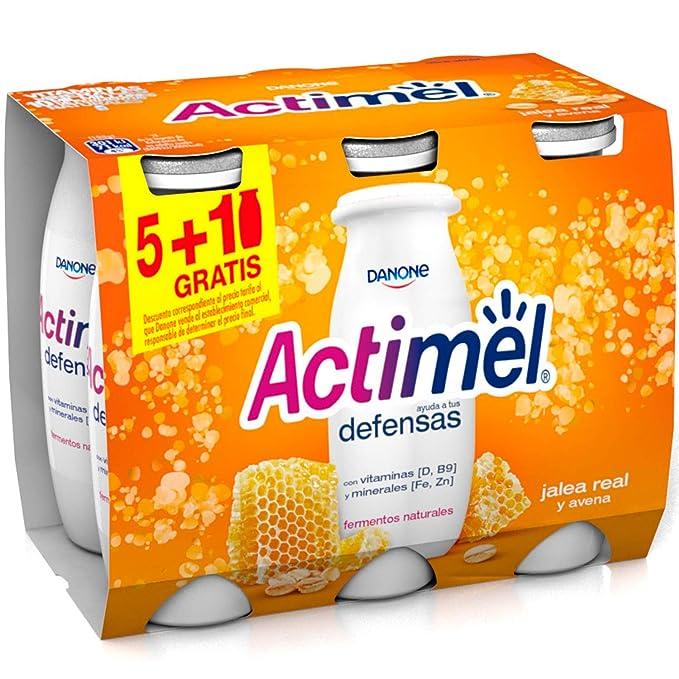Danone Actimel Bebida de Jalea Real y Avena - Paquete de 6 x 100 ...