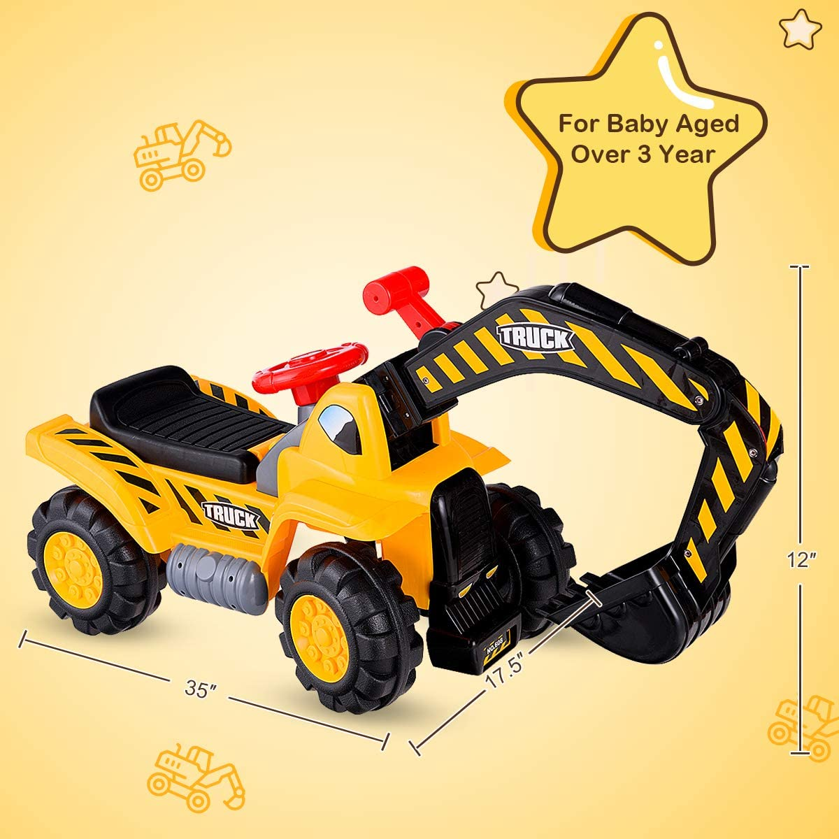 Toys & Games Ride-On Toys & Accessories ghdonat.com Outdoor Digger ...